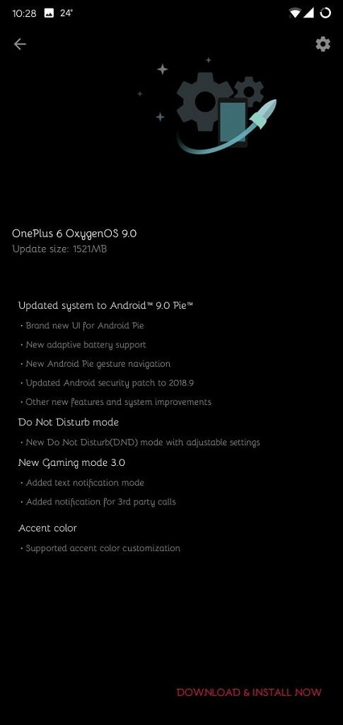 OxygenOS 9 0 based on Android Pie rolls out for the OnePlus 6