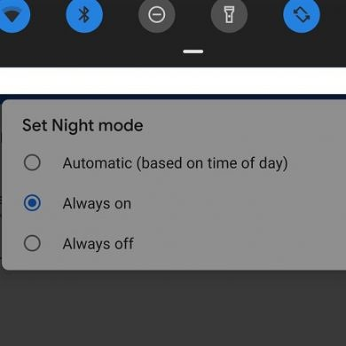 Android Pie on the Google Pixel 3 has an automatic dark theme based on time of day and battery saver