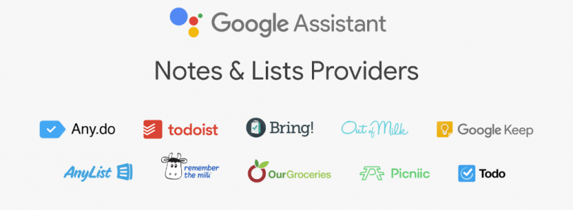 Google Assistant support for 3rd-party notes & lists apps begins rolling out