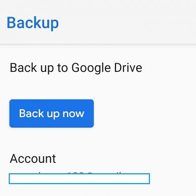 Manual Google Drive backup support is now in testing in Android Pie