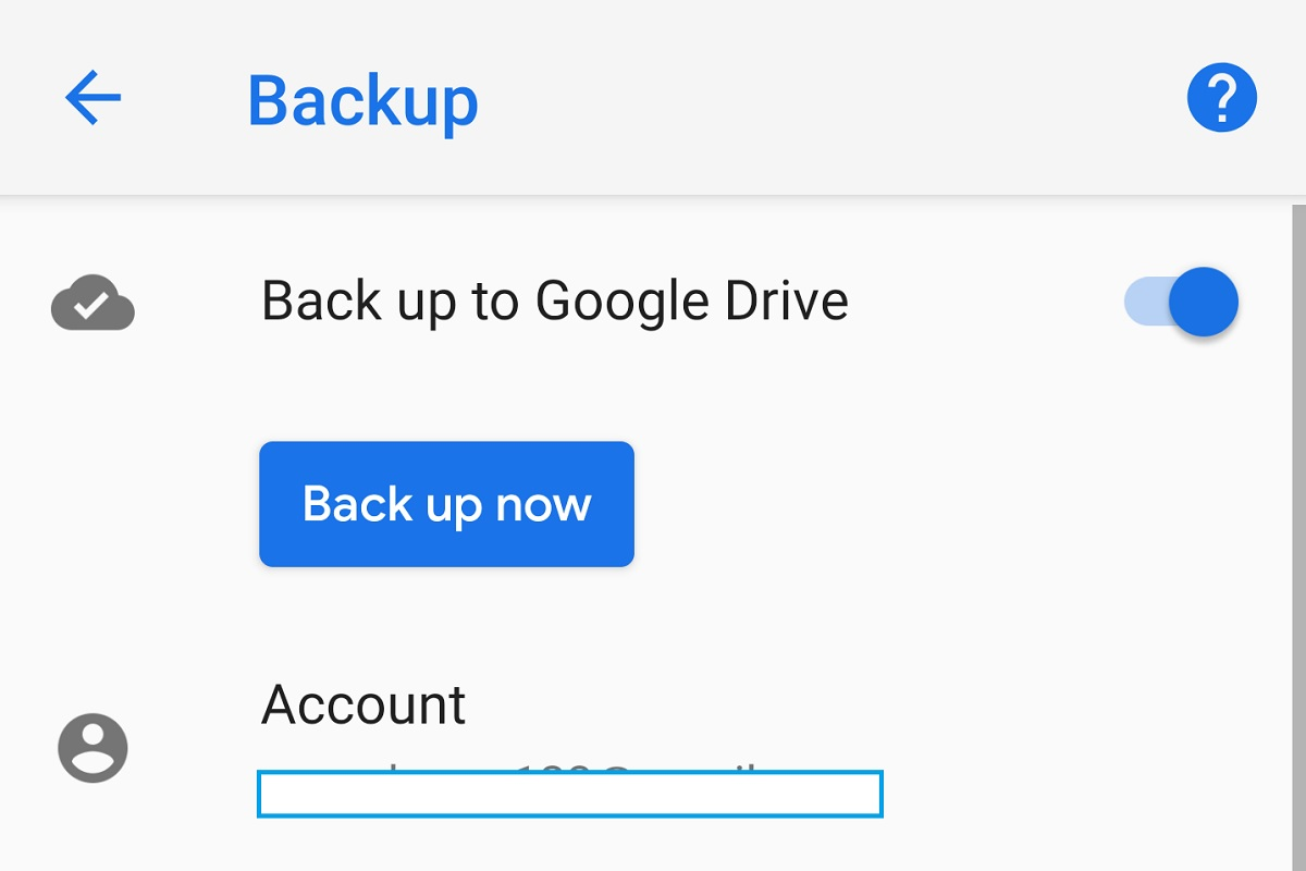 Manual Google Drive backup support is now in testing in