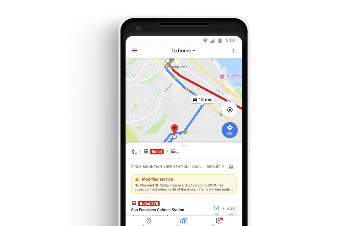 Google Maps adds commute features and integrates Spotify ... on microsoft maps, iphone maps, bing maps, search maps, topographic maps, road map usa states maps, ipad maps, stanford university maps, goolge maps, online maps, android maps, gogole maps, msn maps, waze maps, gppgle maps, amazon fire phone maps, aeronautical maps, googlr maps, aerial maps, googie maps,