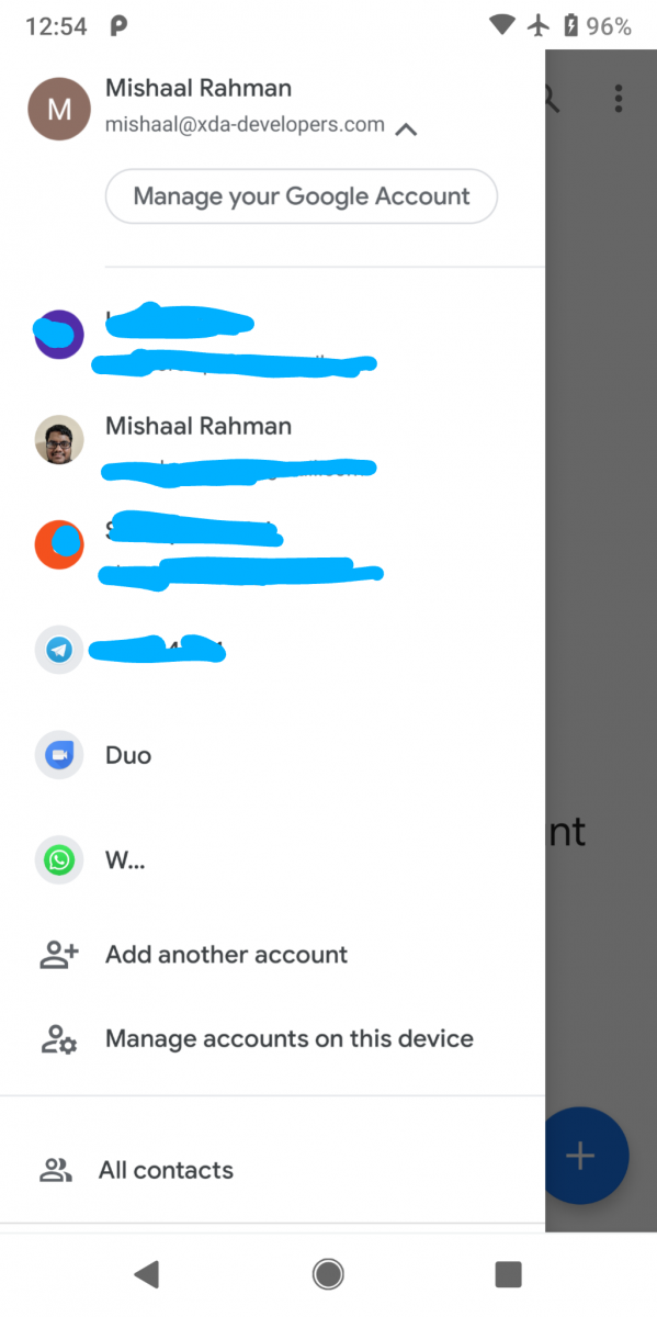 Google Contacts 3 13 lets you clear interaction data and