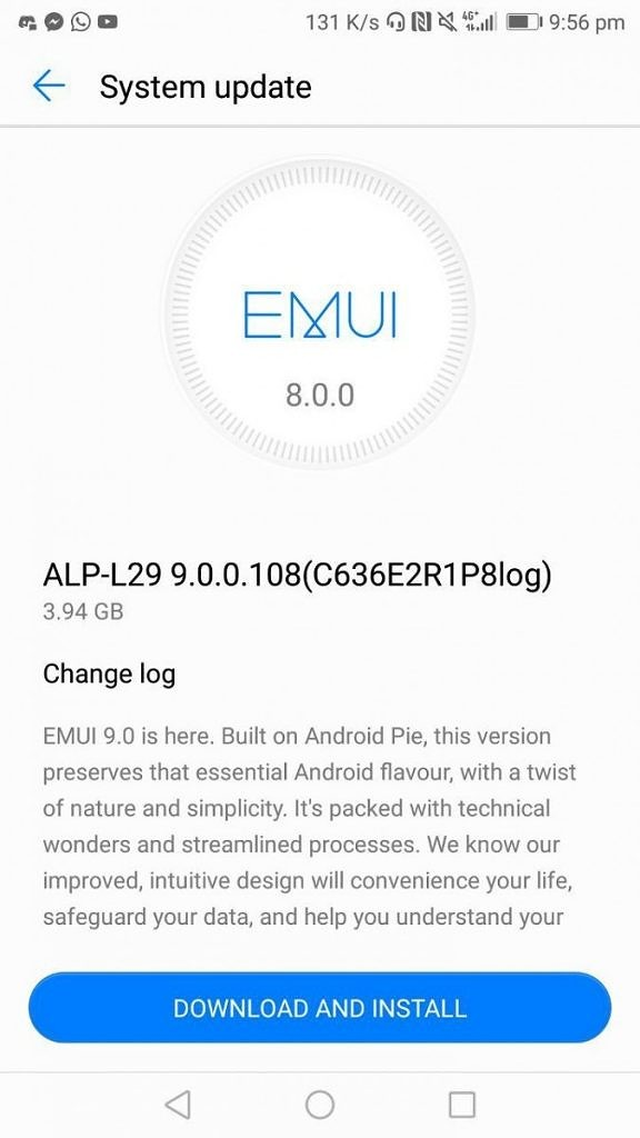 Huawei Mate 10 Android Pie