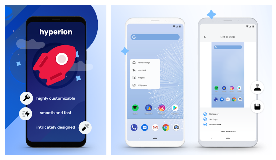 Hyperion is a new launcher by the makers of Substratum