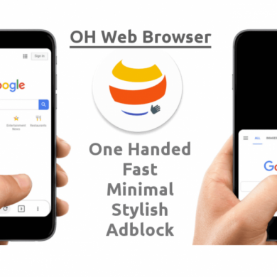 OH Web Browser is a simple browser made for One Handed Use