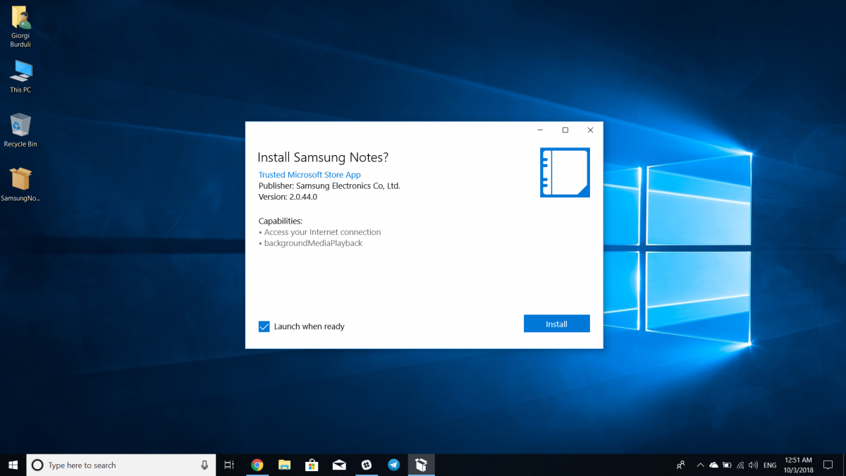 Get the Samsung Notes Windows 10 app on any Windows 10 PC