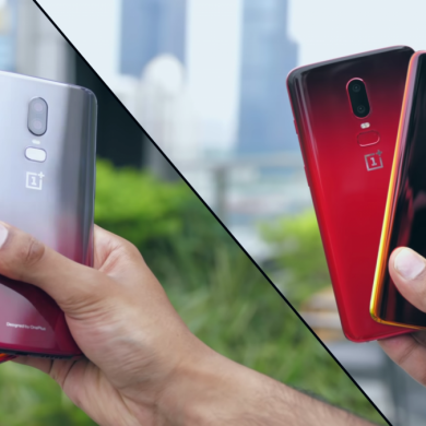 OnePlus 6 prototypes with gradient color finishes get shown off