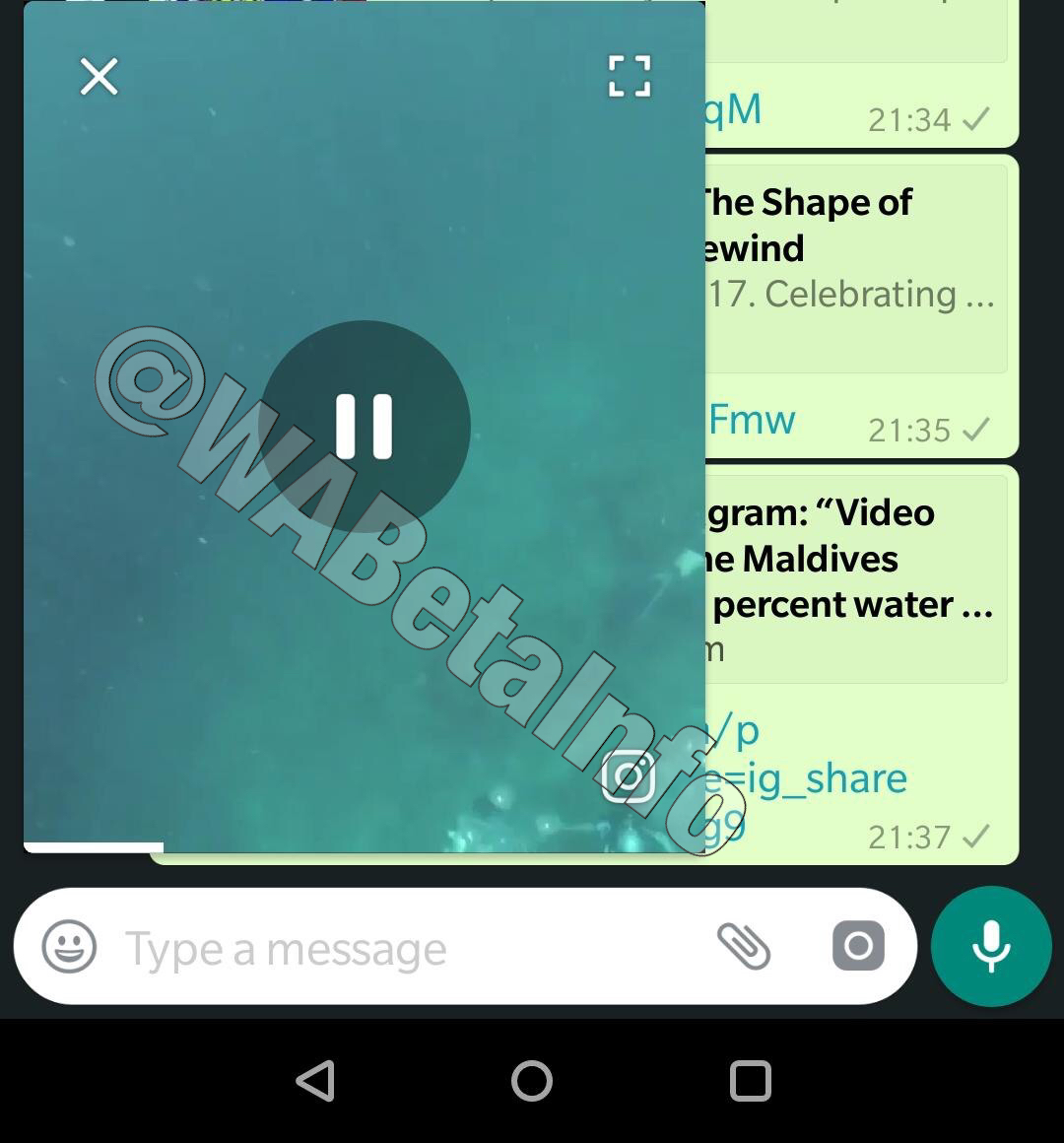WhatsApp Picture in Picture mode