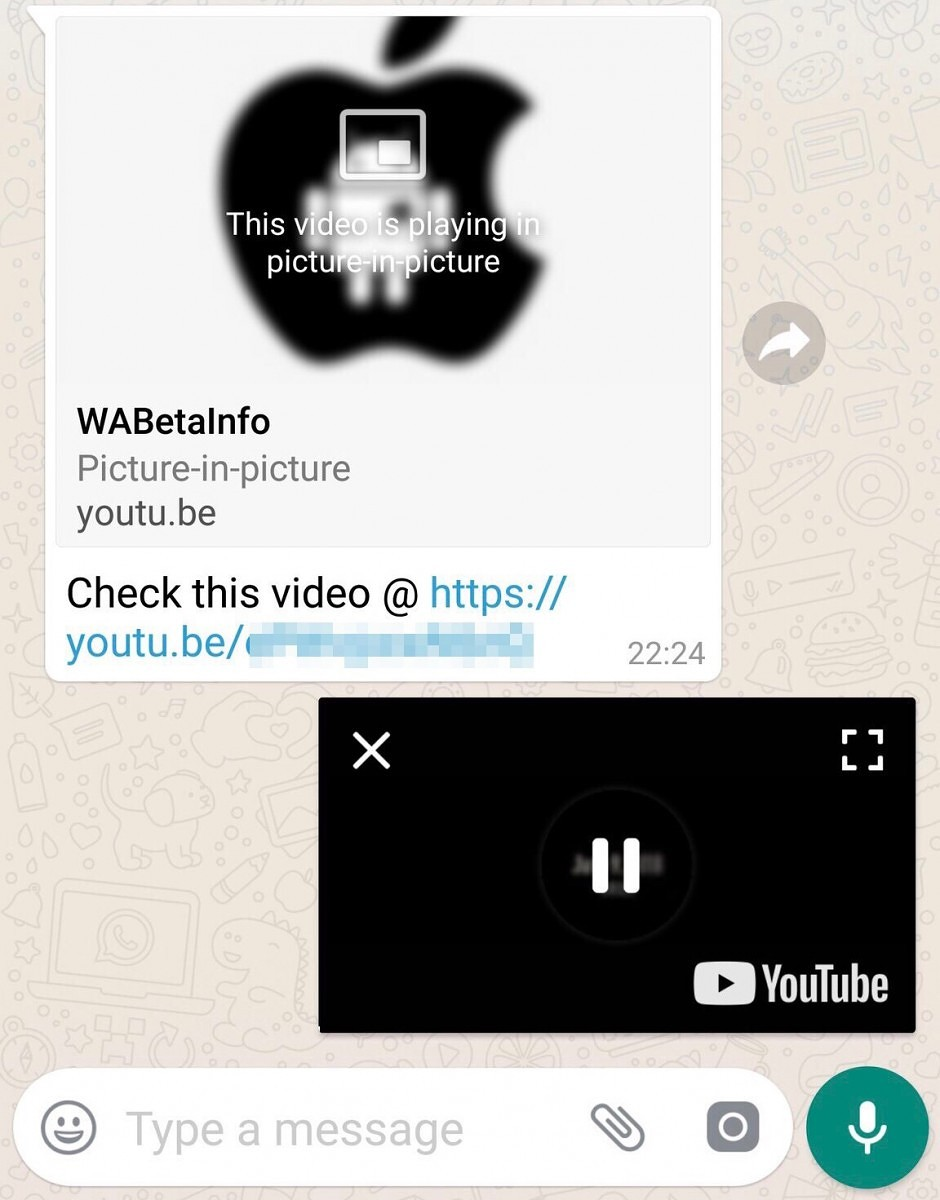 WhatsApp gets PiP mode for YouTube, Facebook, and Instagram