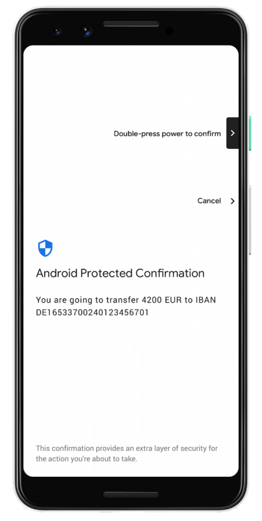 Google Pixel 3 supports secure transactions via Android