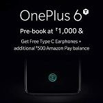 The OnePlus 6T will have a special pre-order offer on Amazon once it launches, which includes a free set of the OnePlus Type-C Bullets.