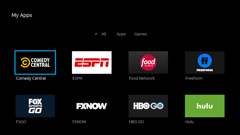 This is DirectTV Now on AT&T's Android TV box