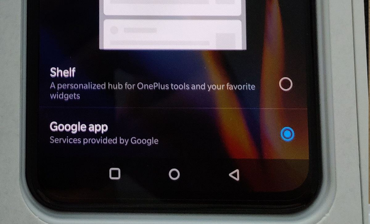 T Mobile Oneplus 6t S Launcher Has A Built In Google Feed