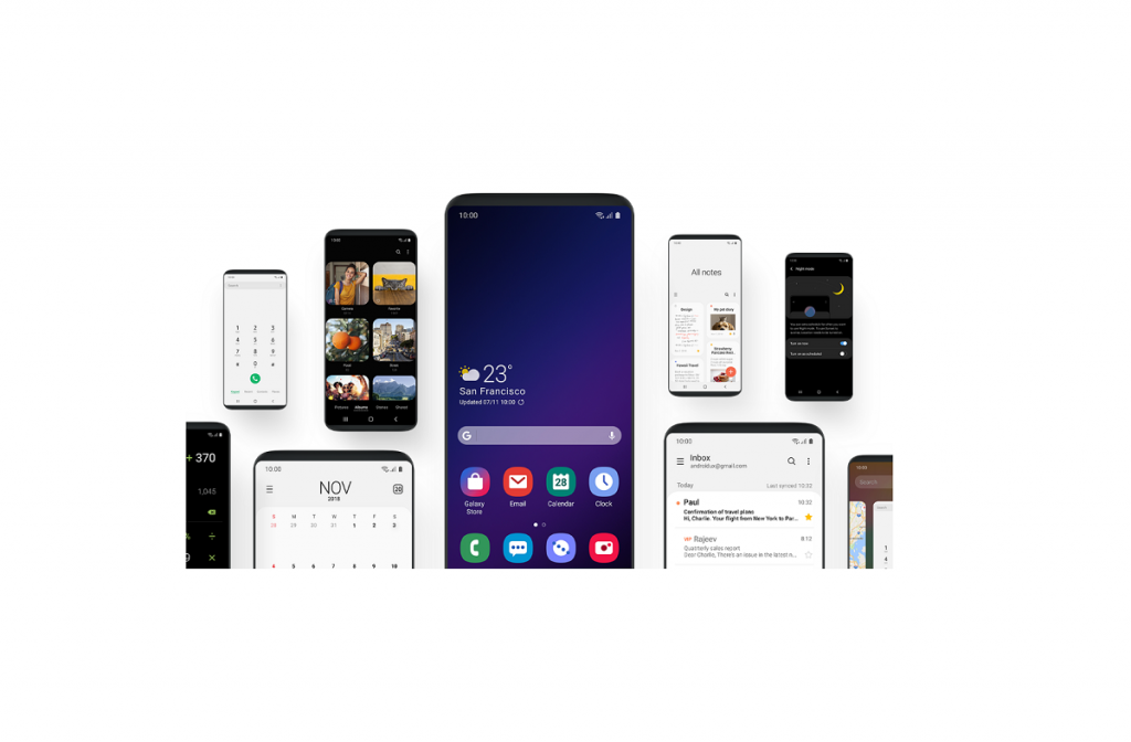 Samsung's One UI for the Galaxy S9 and Galaxy Note 9 unveiled