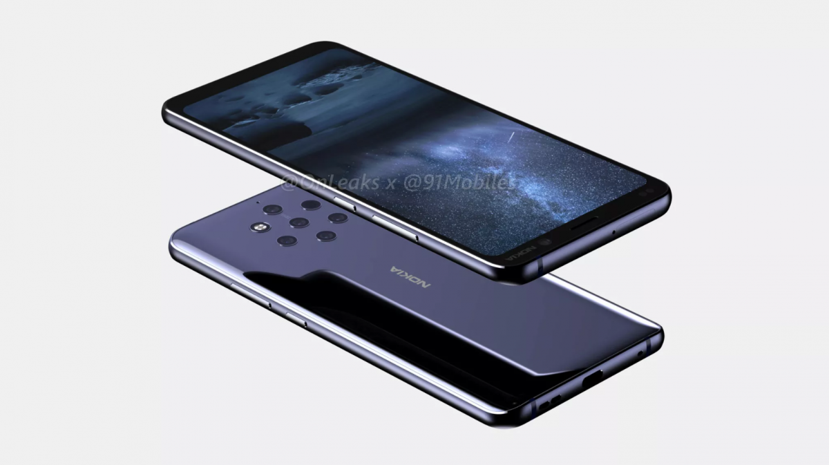 Nokia 9 renders show off the trypophobia-inducing penta