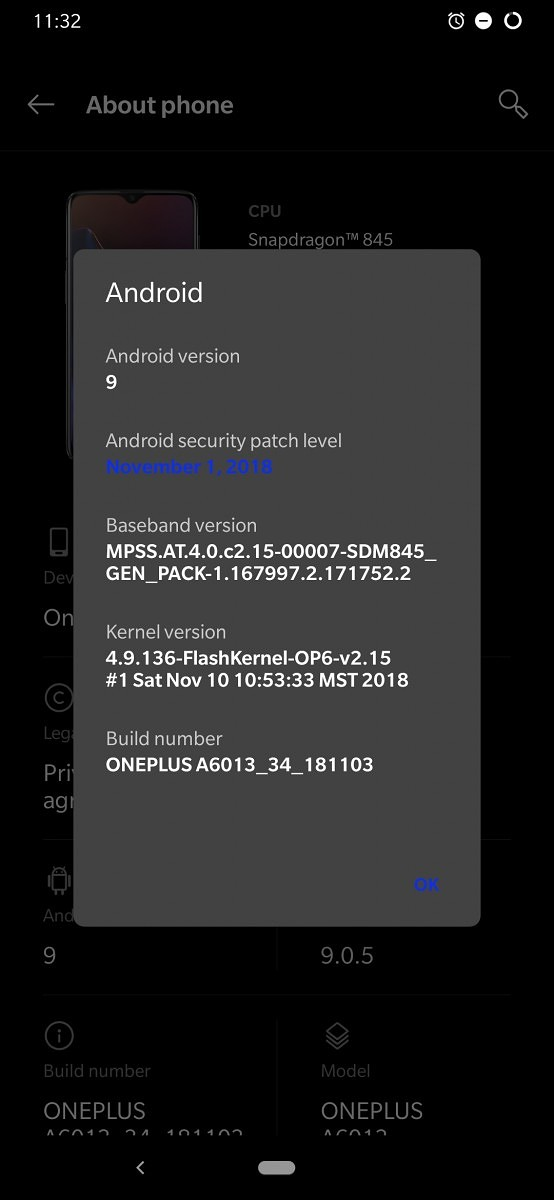 T-Mobile OnePlus 6T gets its first update with November security