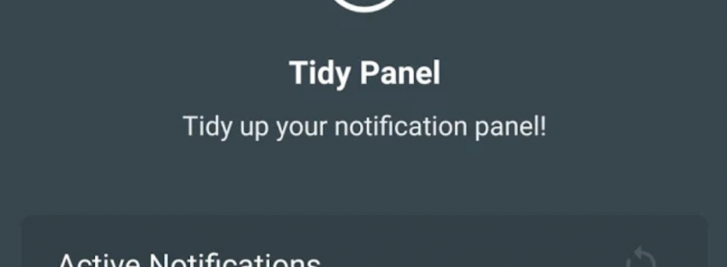 TidyPanel helps you clean up your notification panel