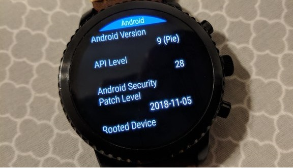Wear OS H update based on Android 9 Pie