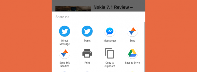 what is link sharing on android