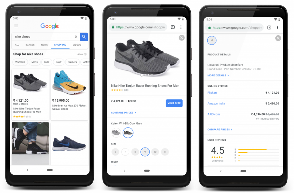 Google announces new shopping search experience for Indian consumers