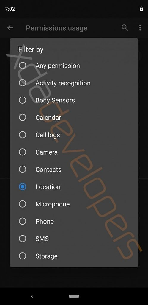Android Q Permissions