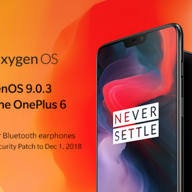 OxygenOS 9.0.3 for the OnePlus 6 brings December security patches and camera improvements