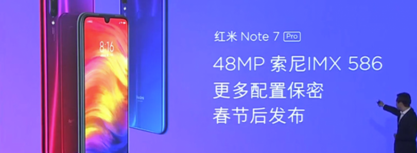 Redmi Note 7 Pro in the works with the 48MP Sony IMX586
