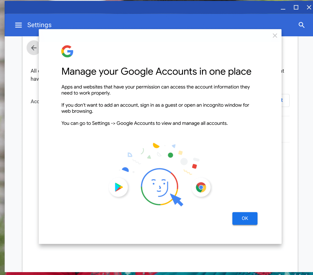 new account with google