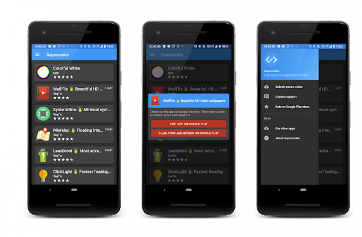 Supercodes is an app for developers to share promo codes for