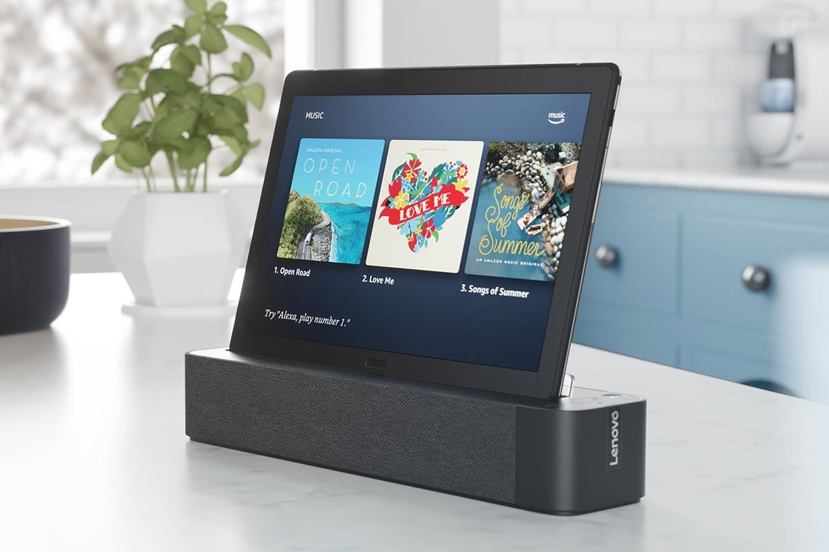 lenovo announces a google assistant smart clock and amazon. Black Bedroom Furniture Sets. Home Design Ideas