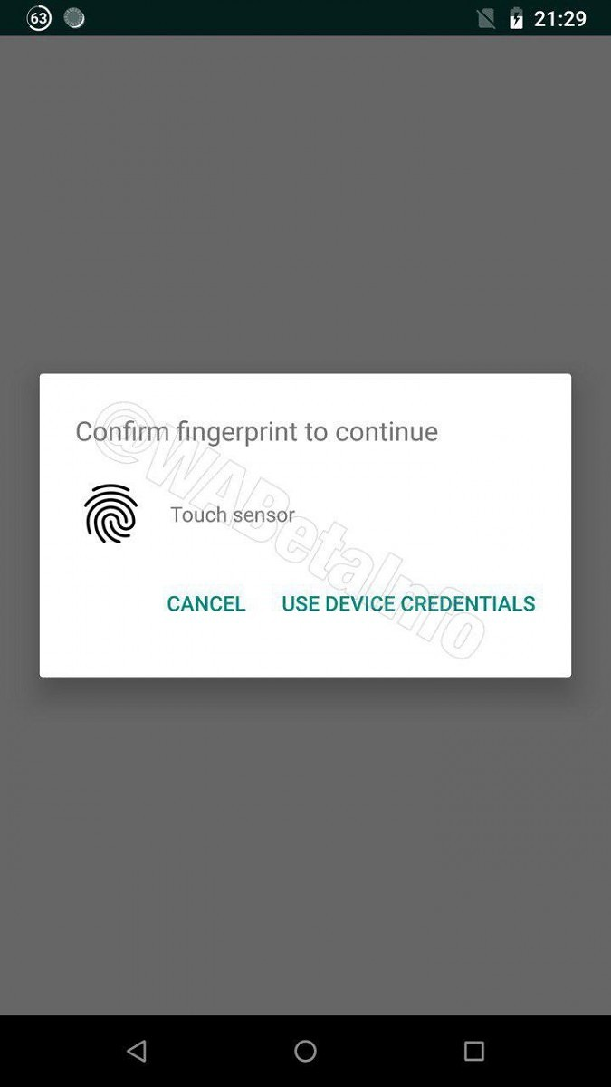 WhatsApp for Android may soon get fingerprint authentication