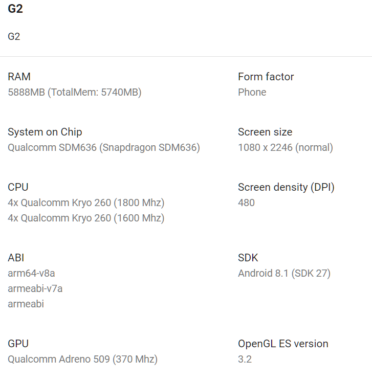 10 or G2 may launch soon in India with a notched FHD+ display and