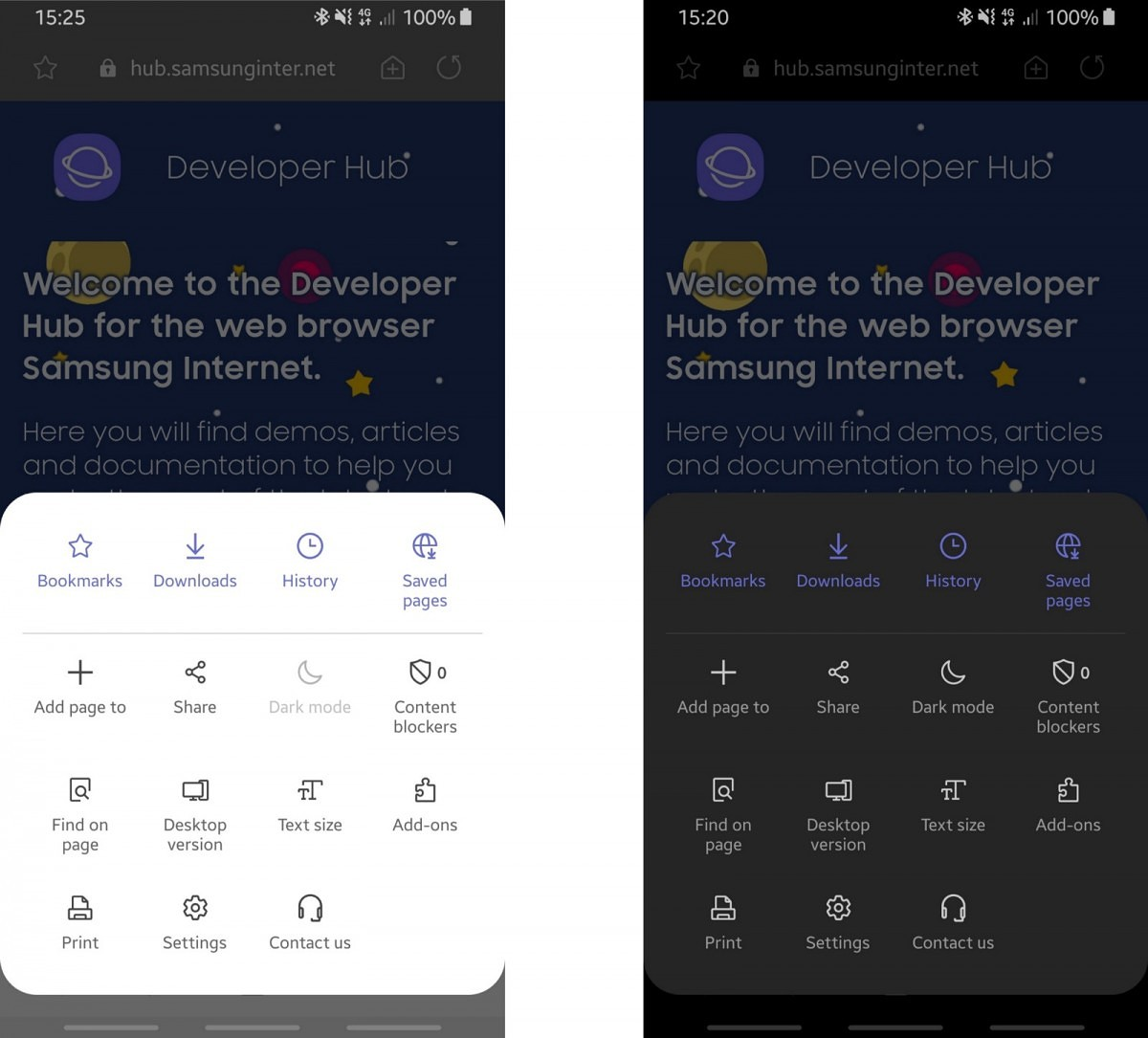 Samsung Internet 9 2 Beta brings One UI night mode support and Smart