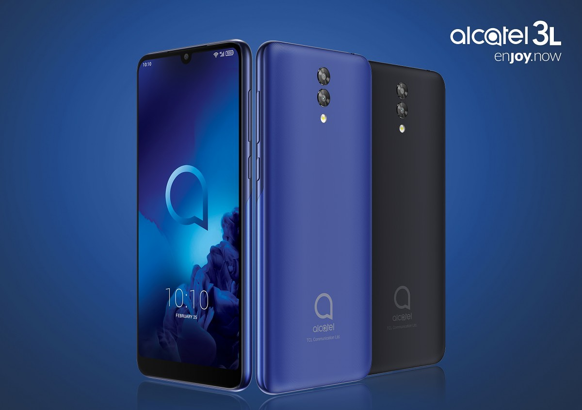 3c3e3e88df4b22 Alcatel 3L will be available alongside its two siblings in Q2 of 2019. The  smartphone will come in Metallic Blue and Anthracite Black.