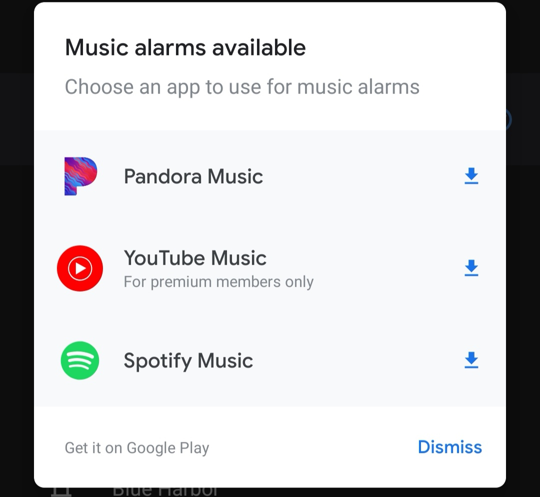 Google Clock 6 1 lets you set alarms from Pandora or YouTube Music