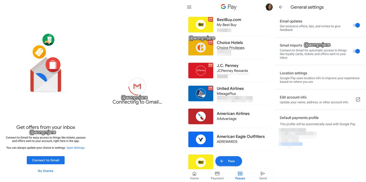 Google Pay tests Gmail integration to import loyalty cards