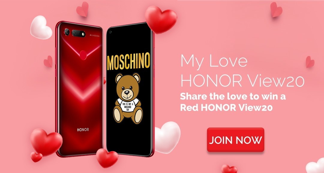 Red HONOR View20 Giveaway! Enter to Win a V-day gift #MyLoveHonorView20