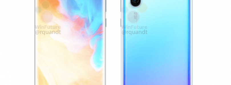 Huawei P30 Pro press renders leak, expect triple cameras and 10x zoom