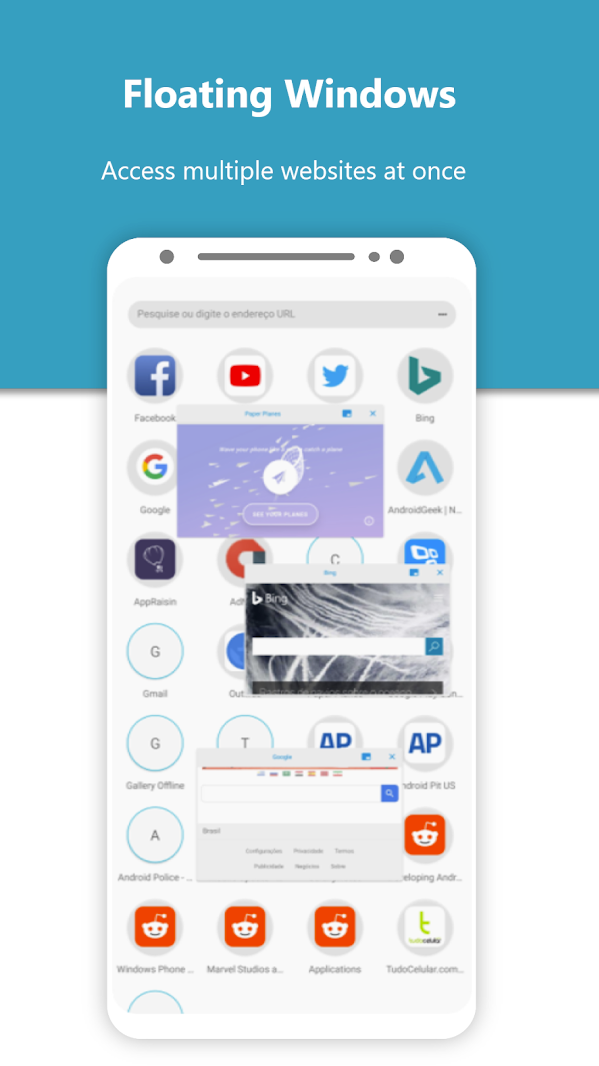 Monument Browser is a lightweight browser with a floating windows, night mode, ad-blocker, and more