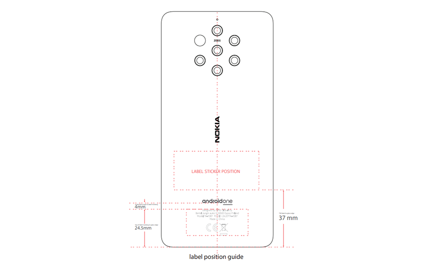 Nokia 9 PureView with penta camera certified by the FCC