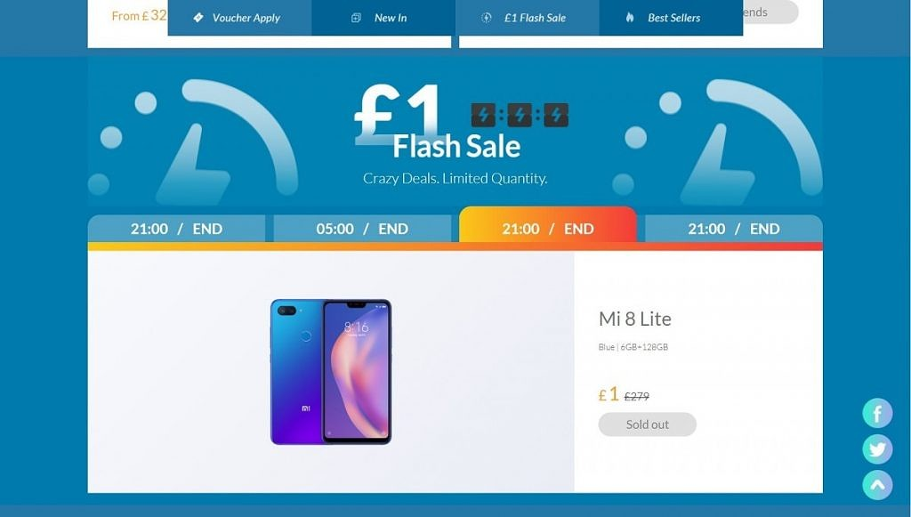 The Xiaomi flash sale in the UK