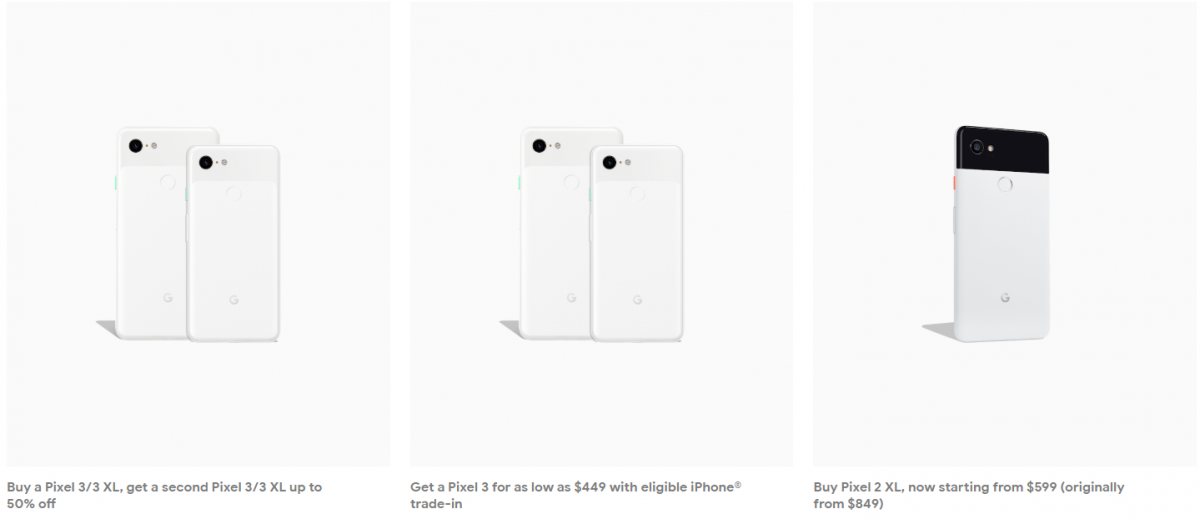 Deal Buy One Google Pixel 3 3 Xl And Get A Second 50 Off