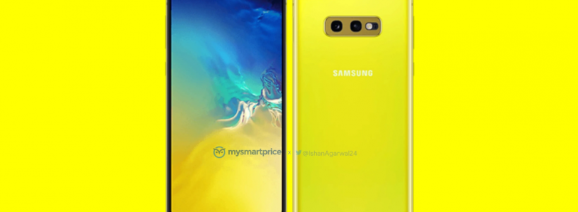 "Samsung Galaxy S10e shown off in bright ""Canary Yellow"" color"