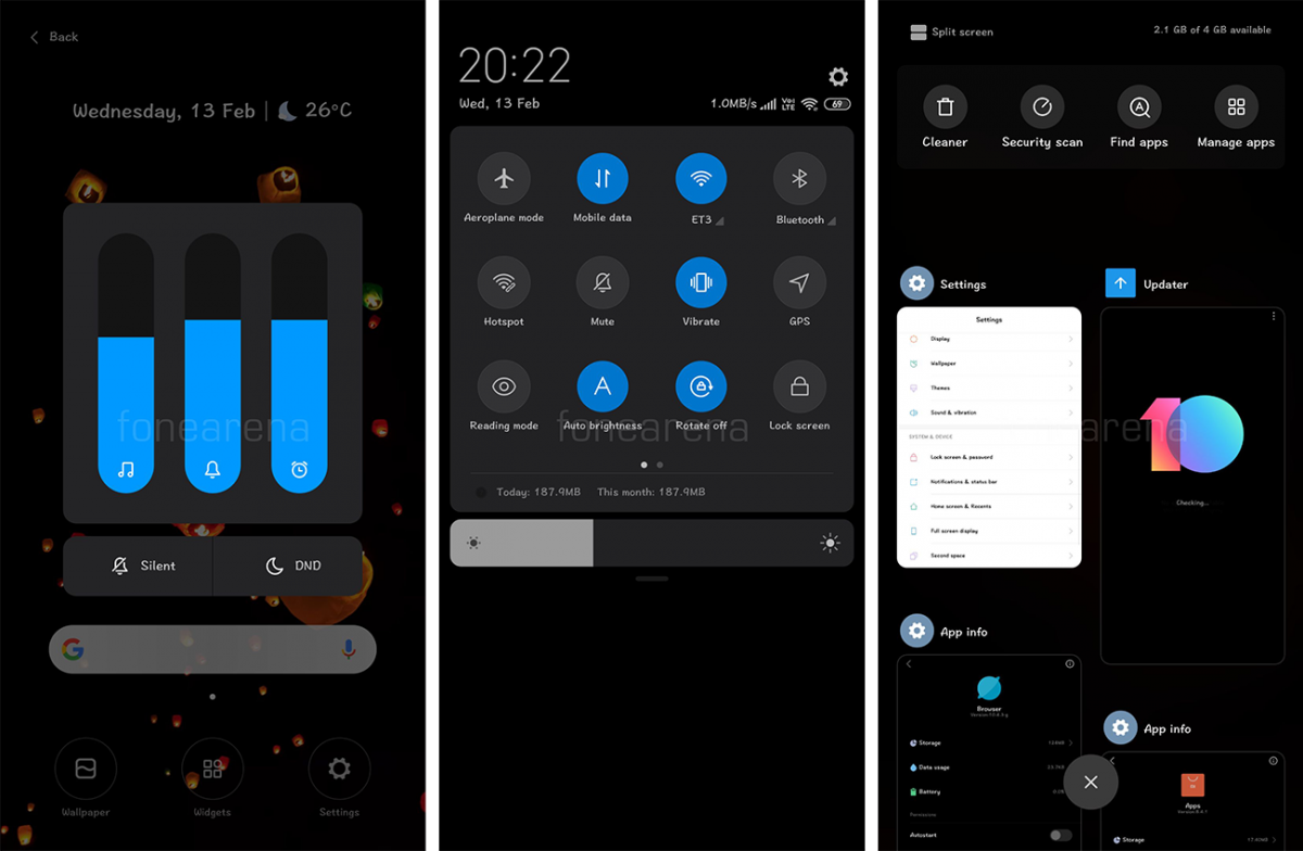 miui 10 global beta dark theme