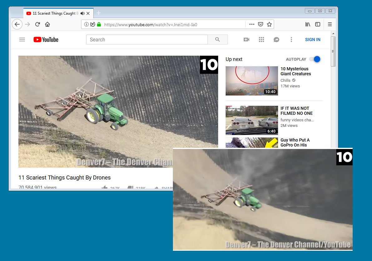 After Chrome, Mozilla Firefox is adding picture-in-picture video support
