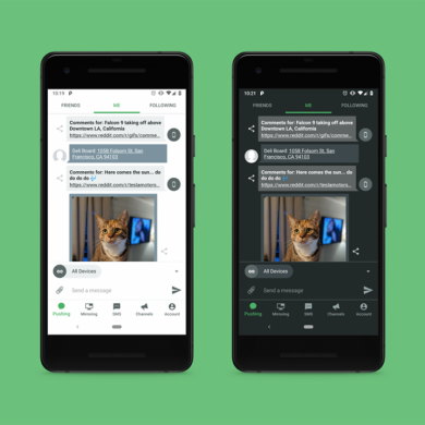 Pushbullet gets updated with a Material Theme redesign, dark mode, and more