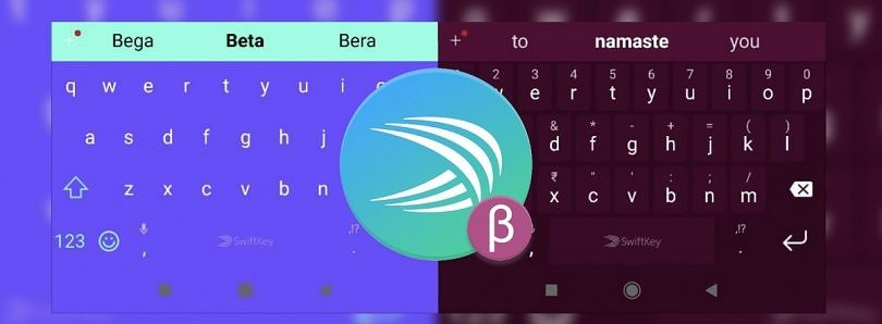 SwiftKey Beta now colors the navigation bar to match the keyboard