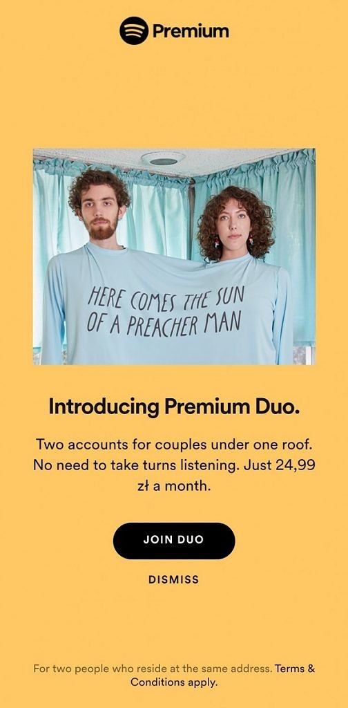 Spotify is testing a new Premium Duo plan aimed at couples