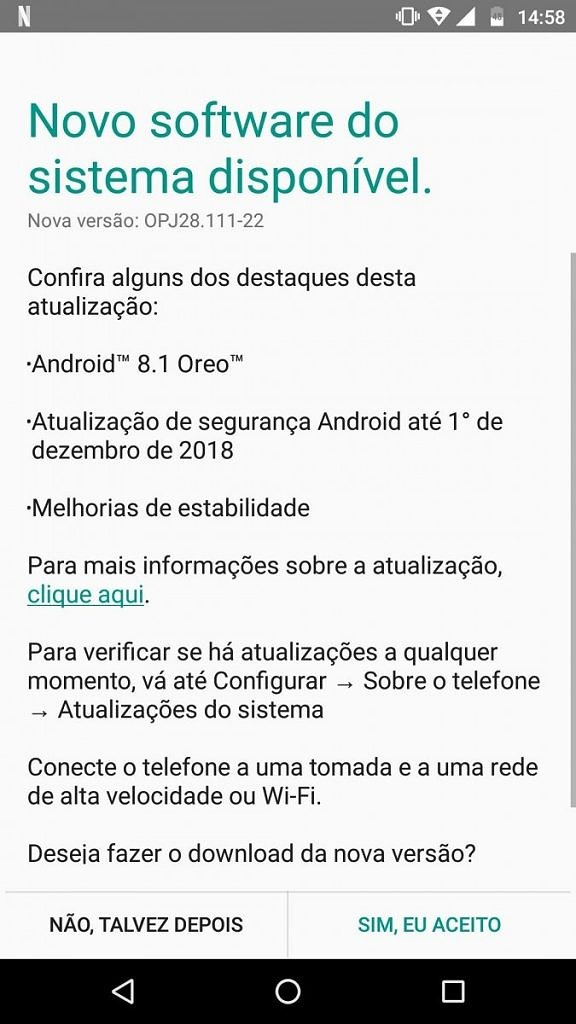Android 8.1 Oreo on the Moto G4